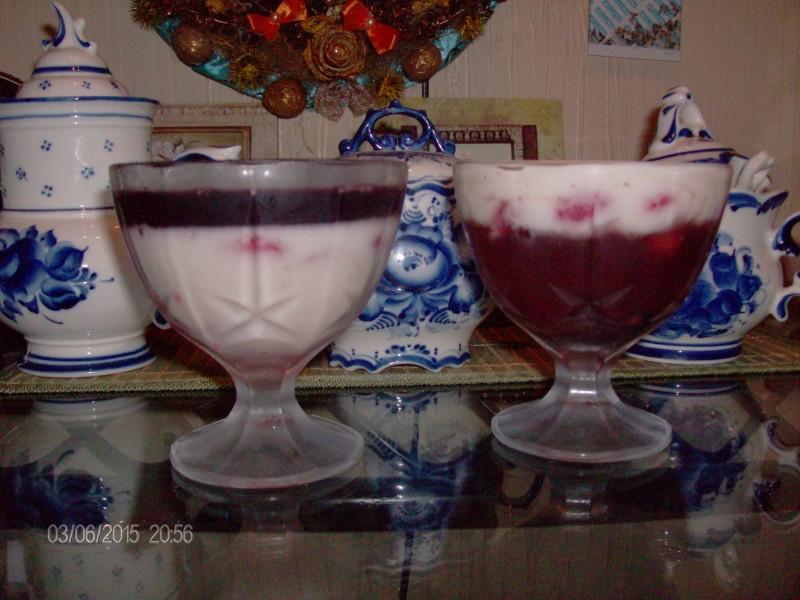 Желейный десертик (когда пошли ягоды)))))
